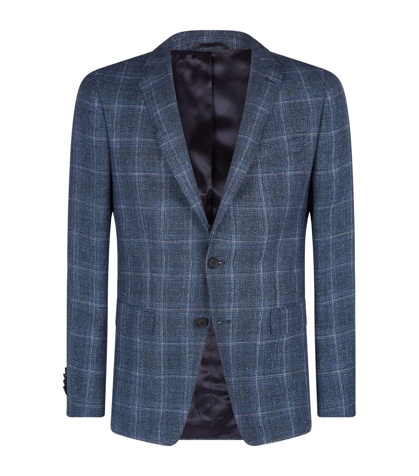 24108ac6d HUGO BOSS WOOL-LINEN PLAID BLAZER. #hugoboss #cloth   Hugo Boss ...