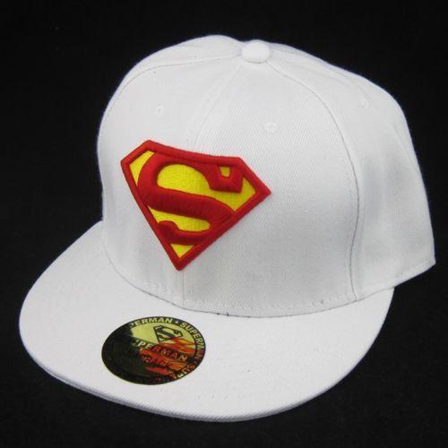 White New Superman hiphop Cosplay Snapback Adjustable baseball cap flat hat  Gift 12.99 041e8b99e866