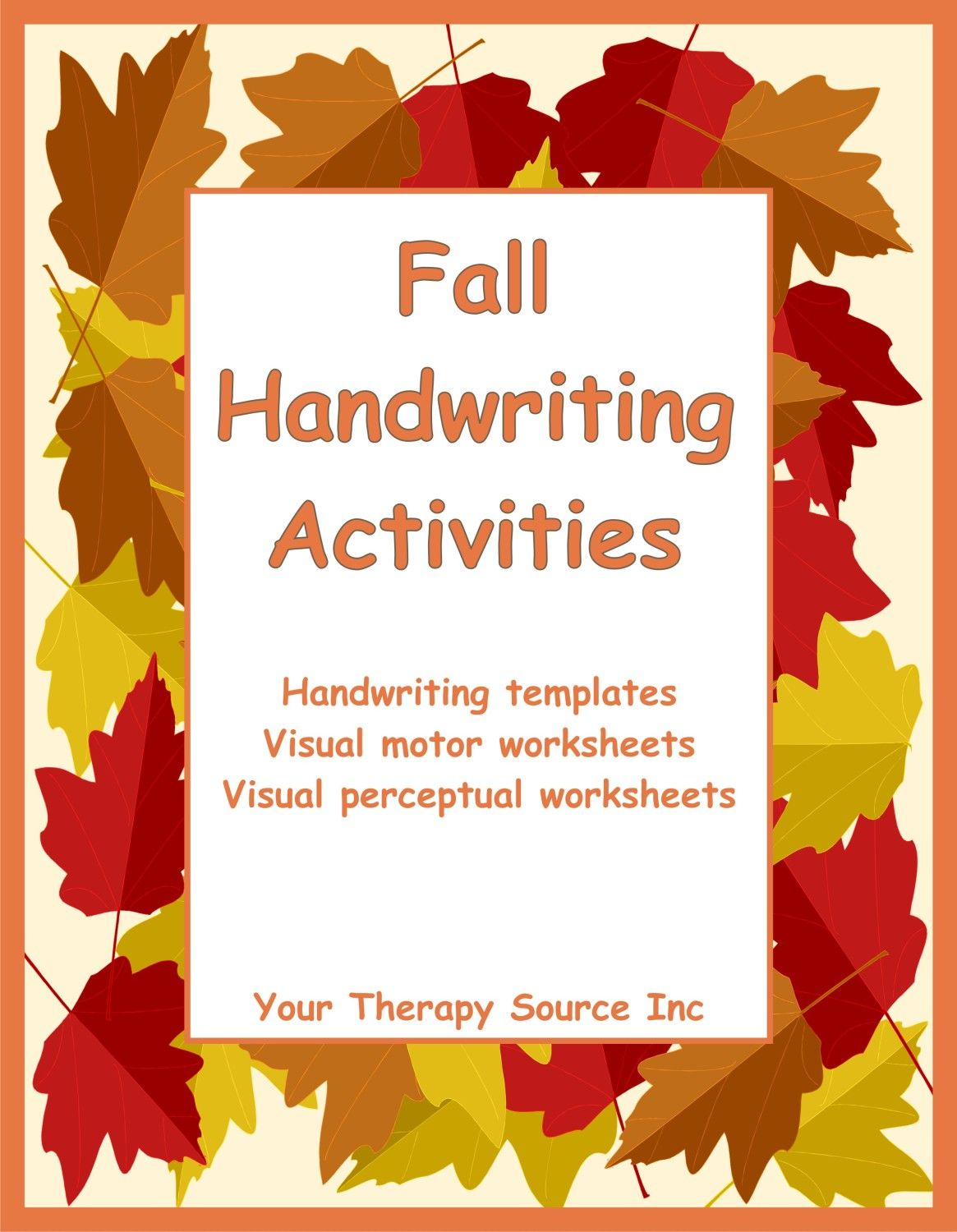Fall Handwriting Activities With Images