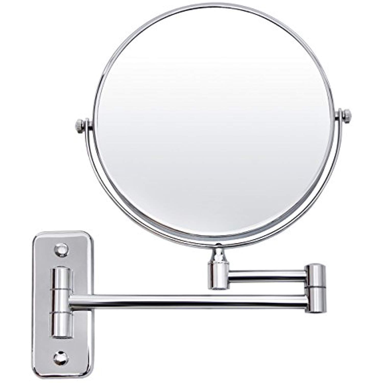 Songmics 8 Two Sided Wall Mount Makeup Mirror 360a Swivel Extendable 7x Cosmetic Mirro Wall Mounted Makeup Mirror Bathroom Vanity Mirror Lighted Wall Mirror