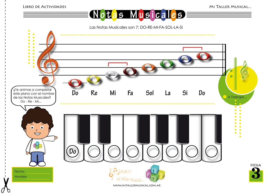 Aprender Notas Musicales Niños Google Search Notas Musicales Musica Para Niños Libros De Actividades