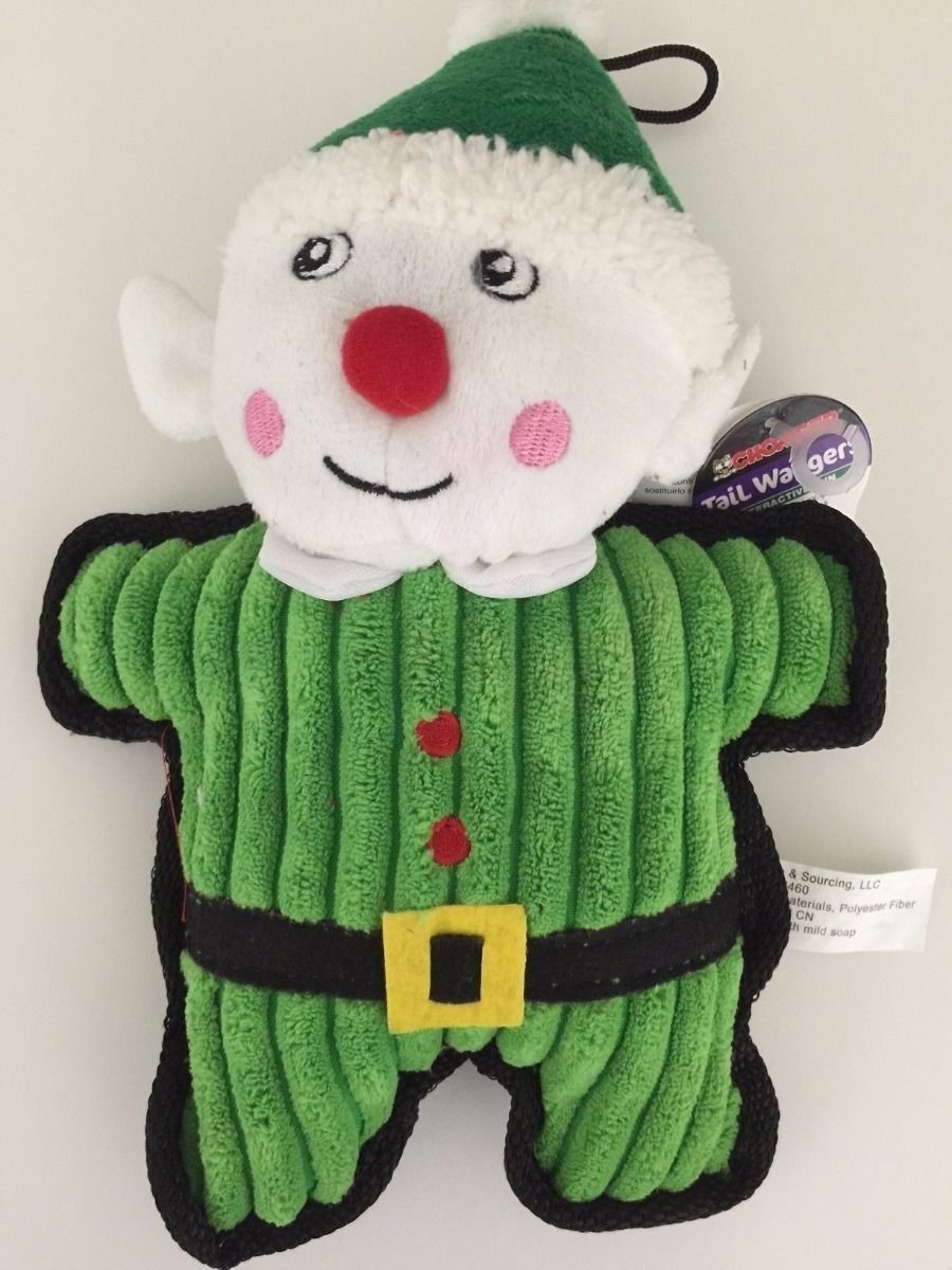 Chomper Holiday Tile Cord Belted Squeakers Toy ** Want