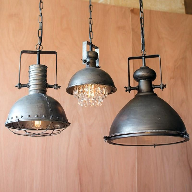 99bb8ad44ec Metal Dome Pendant Lamp with Hanging Crystals - Cece   Me - Home and Gifts