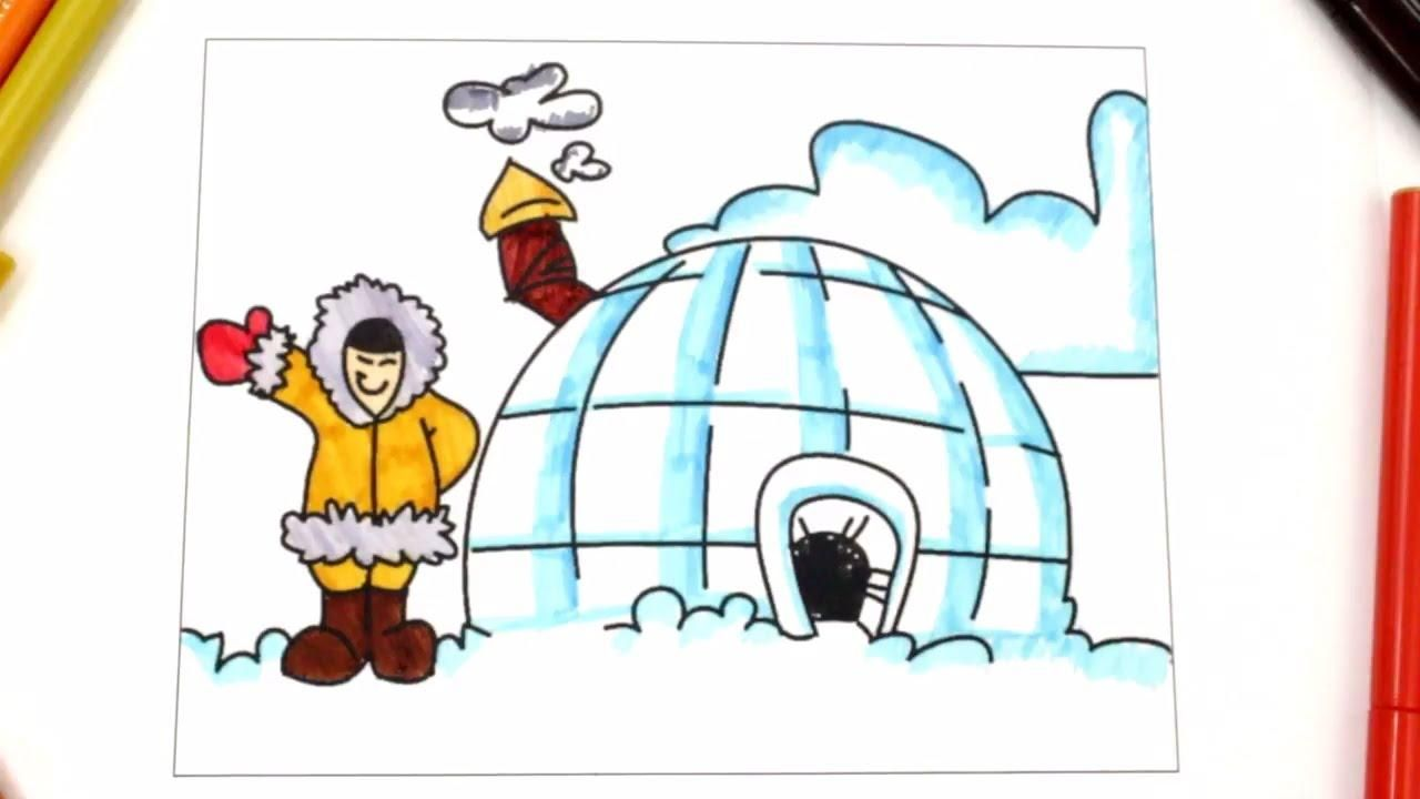51 Coloring Page Igloo In 2020 Coloring Pages Coloring Pages For Kids Flag Coloring Pages
