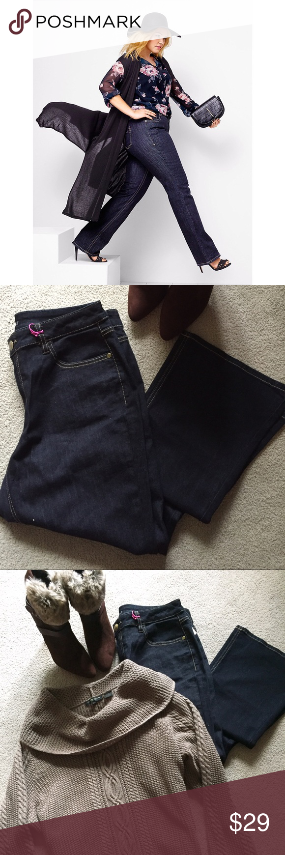 💕Lane Bryant Genius Fit Boot Cut Jeans NWT 💕 Fashionable and fabulously comfortable Genius Fit jeans. Black denim, boot cut, brand new with tags. BOGO 50% off another item plus bundle discount!!! 💃💃💃 Lane Bryant Jeans