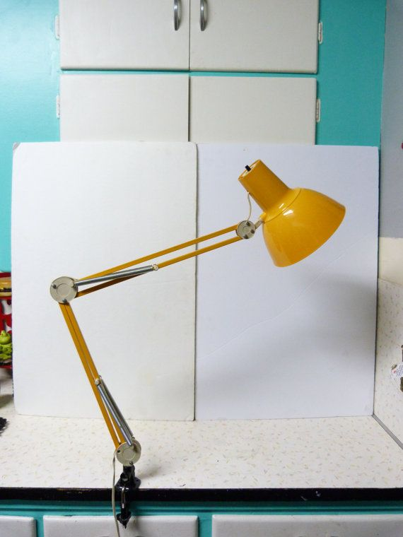 Vintage Luxo Clamp on Desk Lamp Studio Lamp Drafting Lamp Artist Lamp Desk  Lamp Mid Century - Vintage Luxo Clamp On Desk Lamp Studio Lamp Drafting Lamp Artist
