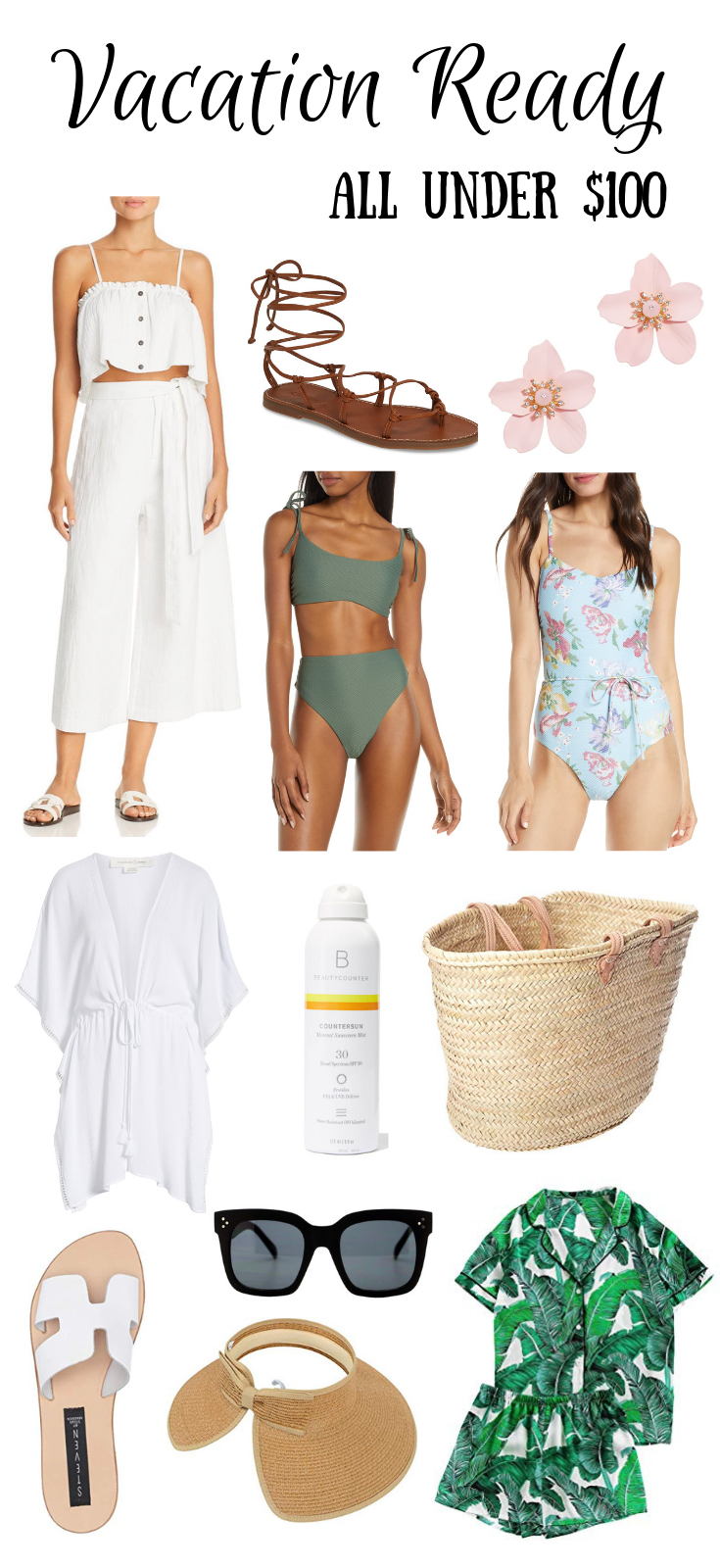 Summer Beach Vacation Checklist #summervacationstyle