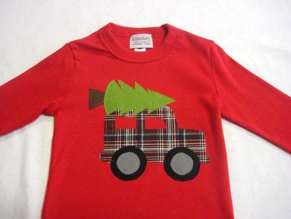 Embroidered Reindeer and Truck Shirt
