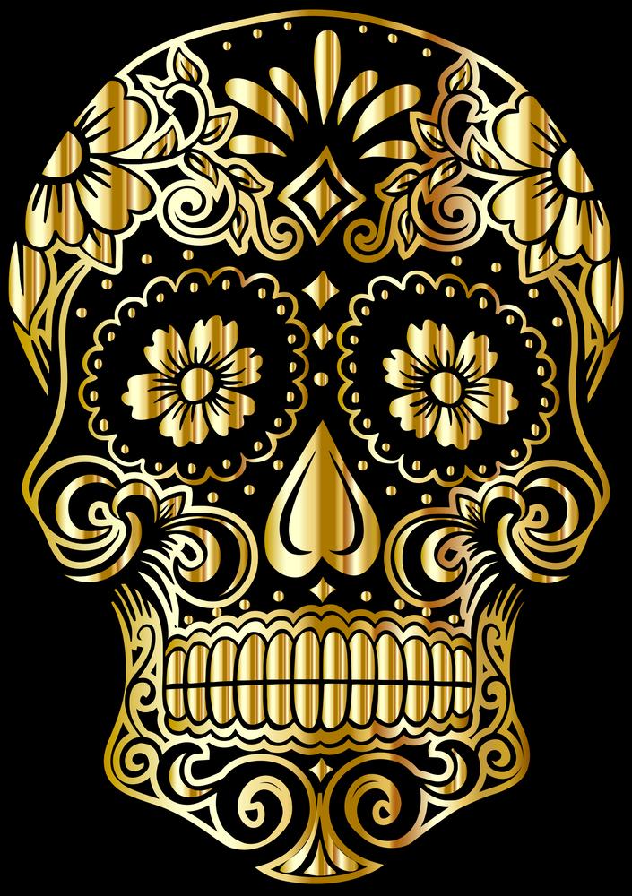 Suger Skull Png Art Print By Kostaslio X Small Sugar Skull Skull Skull Pictures