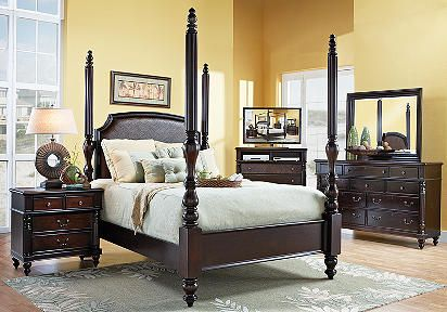 Panama Jack Old Havana Poster Pc King Bedroom Bedroom Sets - Panama jack bedroom furniture