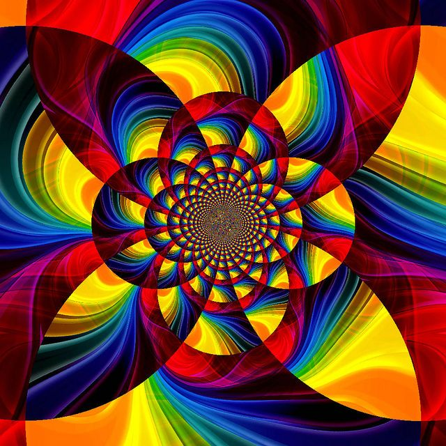Pinwheel Rainbow Fractal Art Colorful Art Fractal Design
