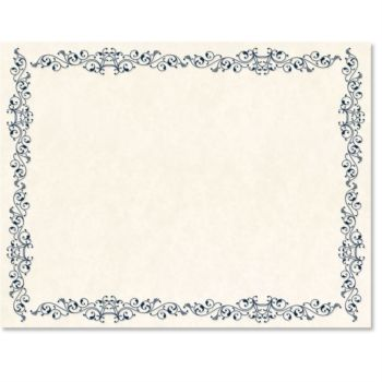 Intricate Scroll Standard Certificates Printable certificates - printable certificate of recognition