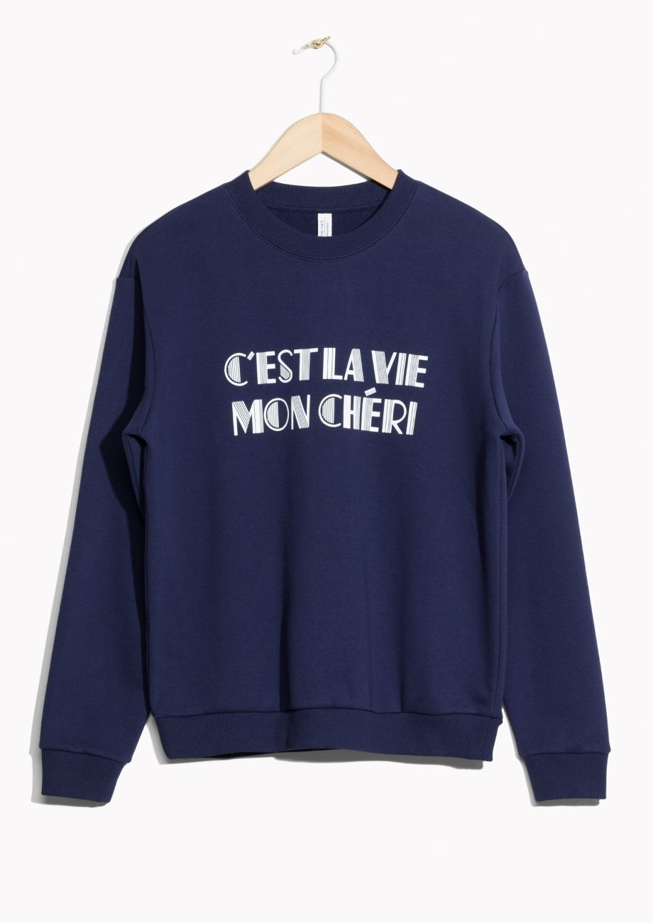 Other Stories Image 1 Of Cest La Vie Sweater In Blue Ss17