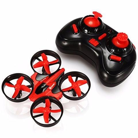 Mini UFO Drone 2.4G 4CH 6 Axis Headless Mode Remote Control Nano EACHINE E010 Quadcopter RTF Mode 2 (Red)