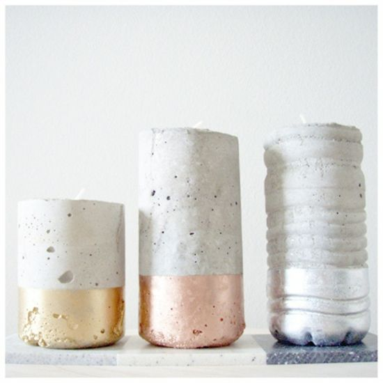 Haus Dekoration: Farbige Kerzenhalter Haus Dekoration