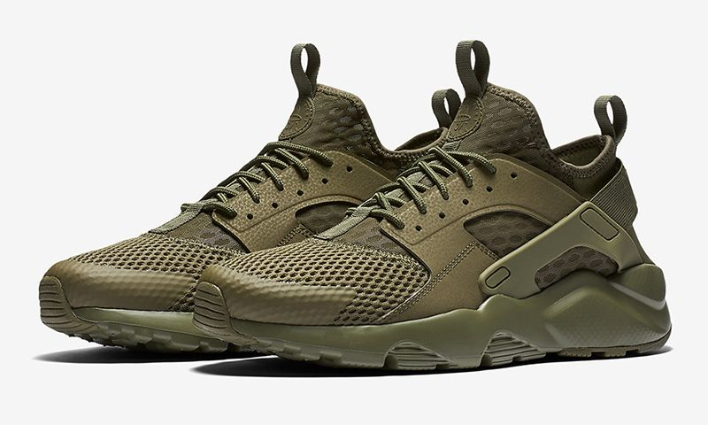 best website 2deb6 9d624 Nike s Air Huarache Ultra BR Gets a Military Green Makeover