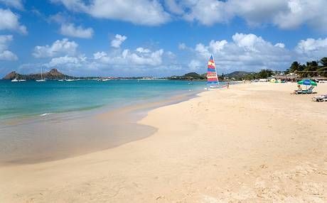 Reduit Beach St Lucia More Than A Mile Of Fine Golden Sand