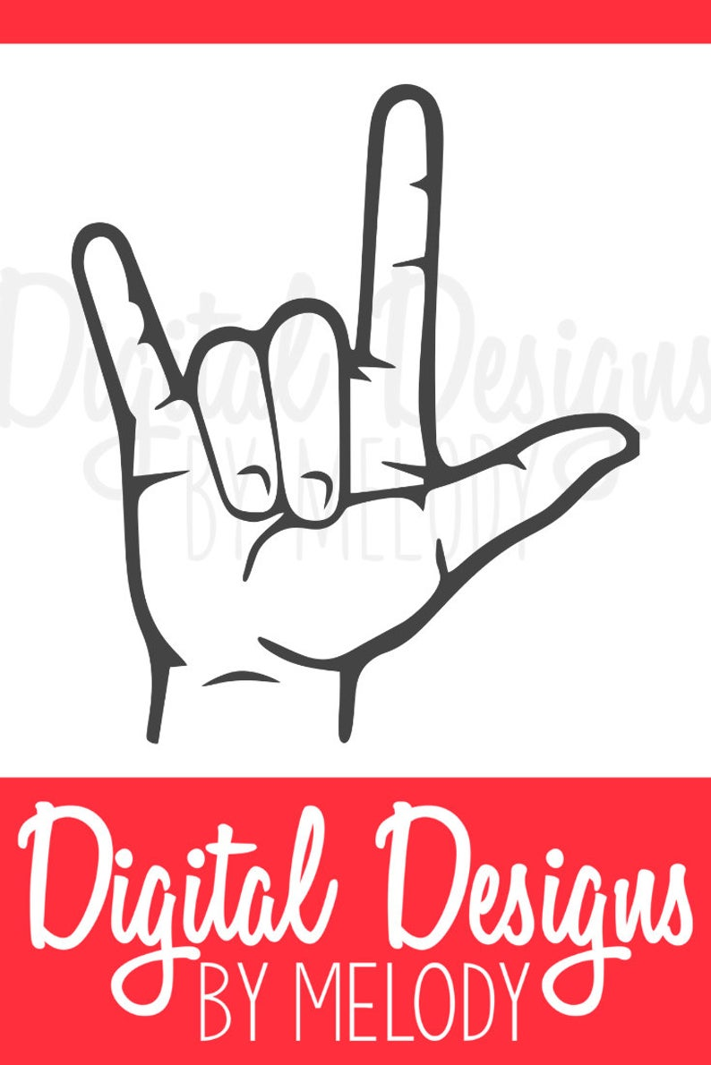 I Love You Sign Language Svg : language, Language, Signs,