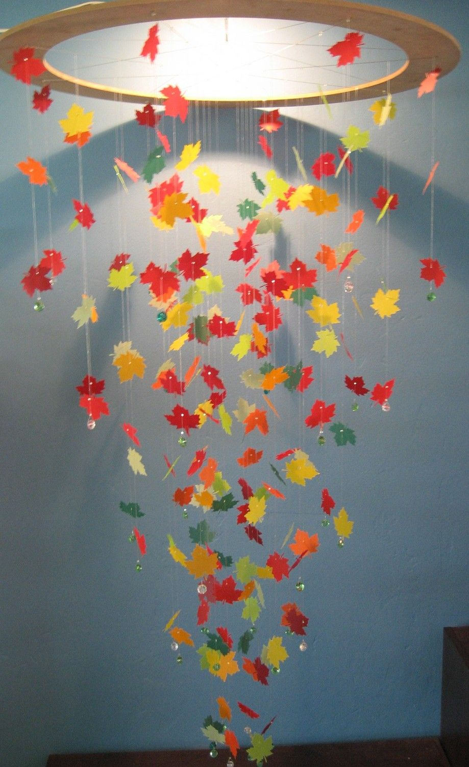 Maple Leaf Mobile in Shades of Autumn - EXTRA LARGE ...