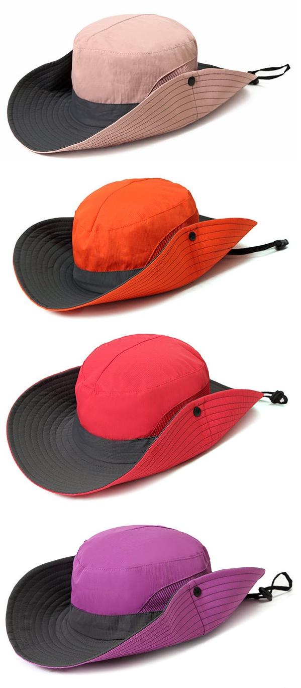 74acc14244e7e US 7.12 Women Summer Foldable Mesh Breathable Anti-UV Fisherman Hat Outdoor  Travel Sunscreen Bucket Hat