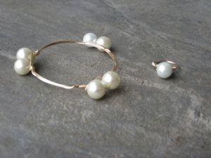 Stackable bangle- Fancy Pearls