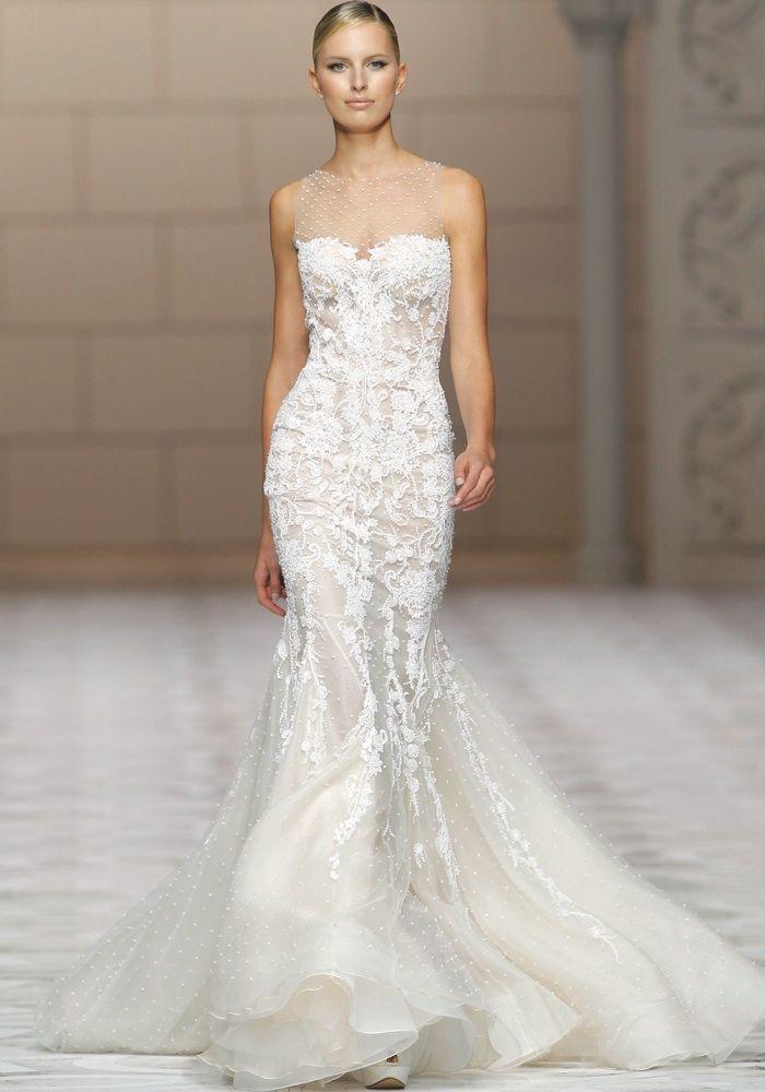 Atelier Pronovias 2015 Mermaid Wedding Dress with Embellishment