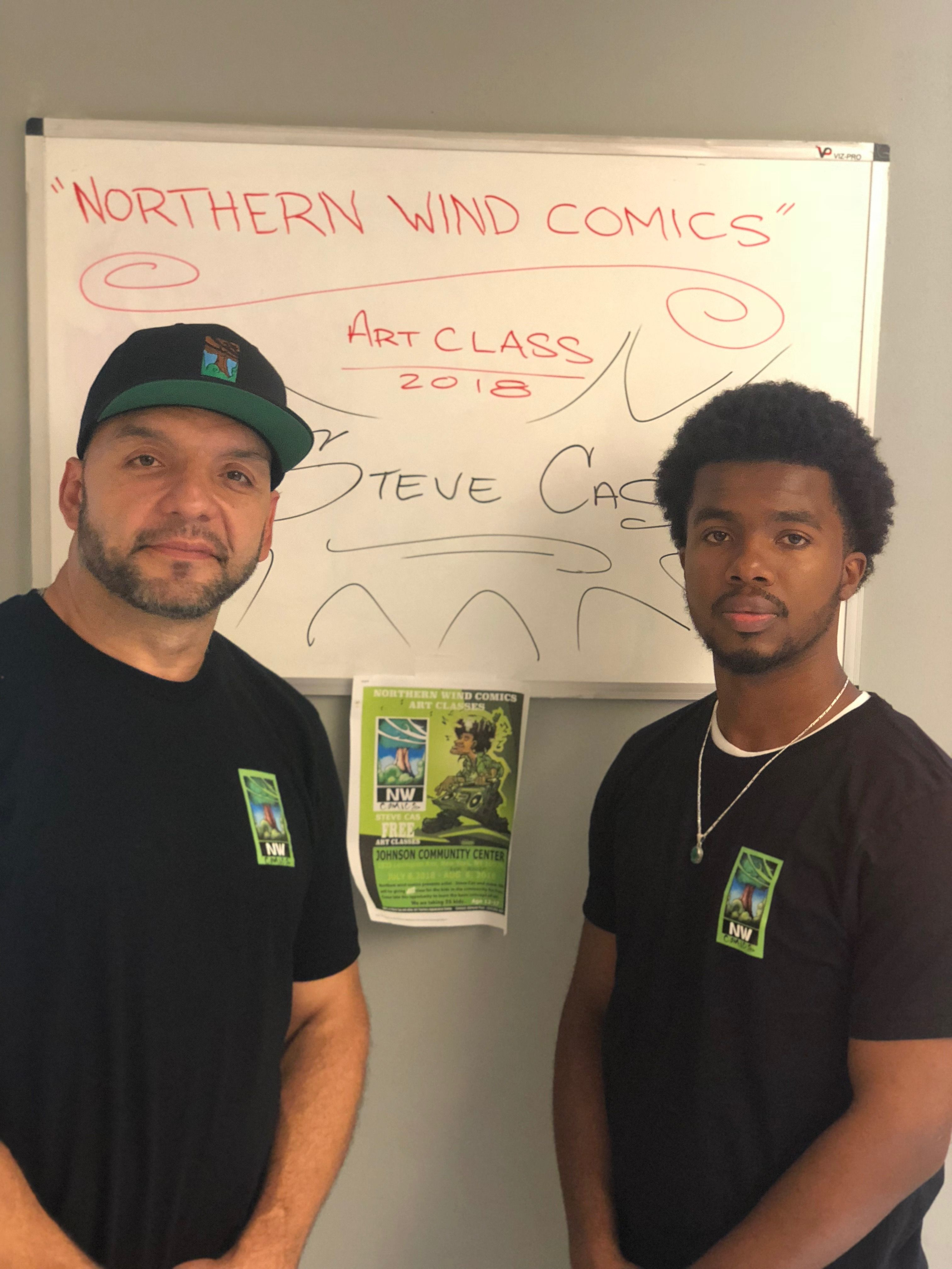 Northern Wind Comics free art class at 1833 Johnson community center