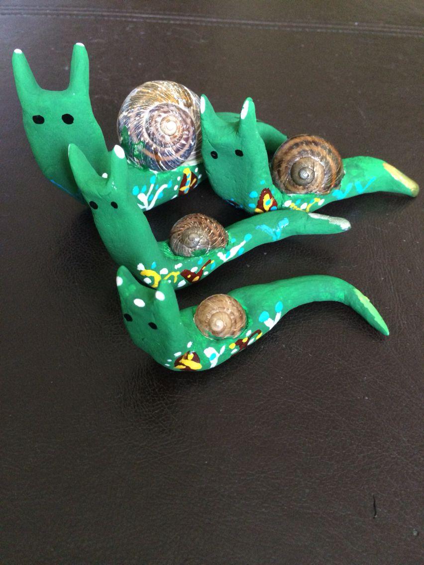 My Snail Family -  Meine Schneckenfamilie -  Salyangoz Ailem - Modelling Material