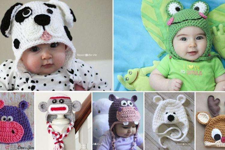 7 Patrons gratuits! Des bonnets de bébé au crochet! 2e partie | Bebe ...