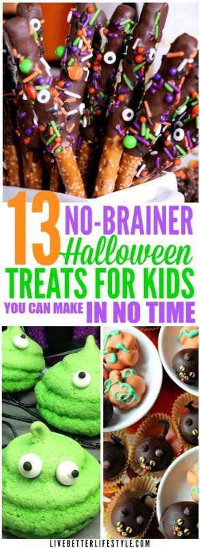 13 Easy-to-Make Halloween Treats for Kids #halloweentreatsforschool