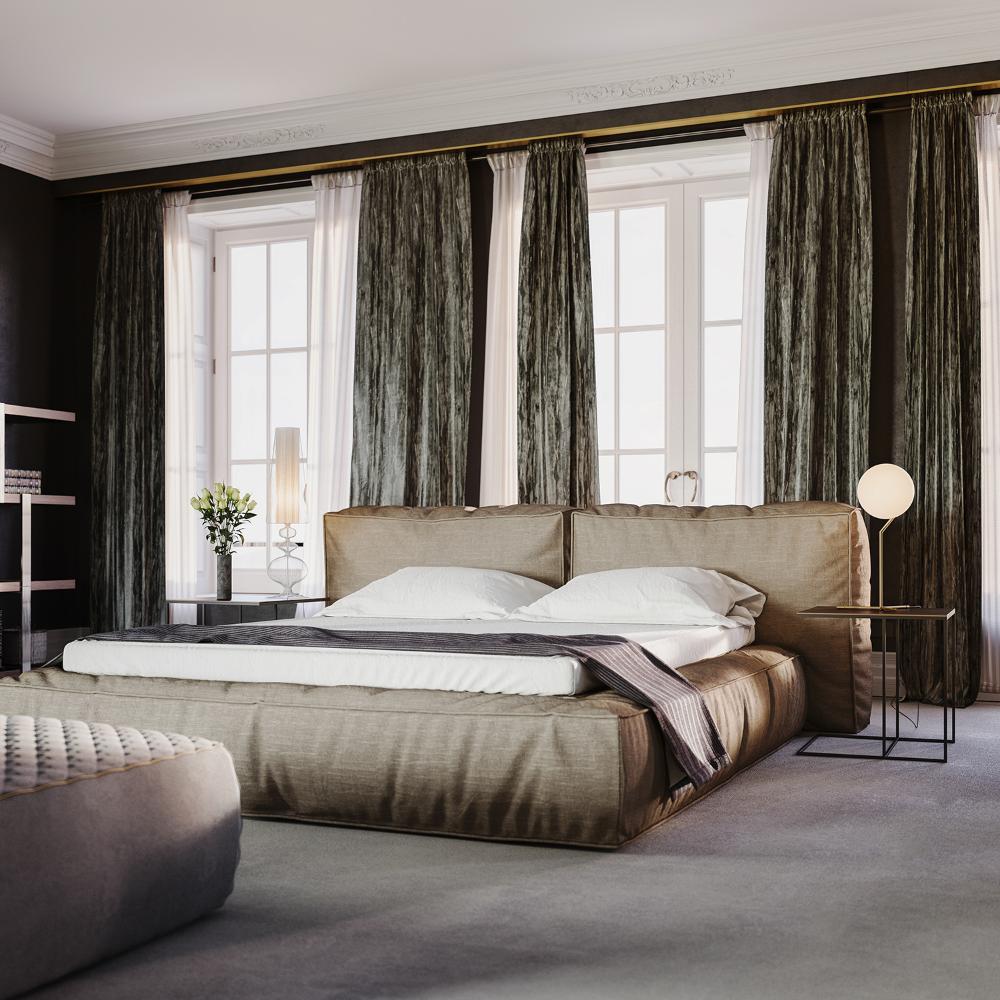 Luxury Master Bedroom Dubai On Behance: Côte D'Azur(Master Bedroom) On Behance