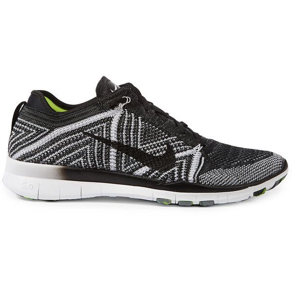 76735f636e9a0 Nike Black Free Transform Flyknit Trainers ( 160) ❤ liked on Polyvore  featuring shoes