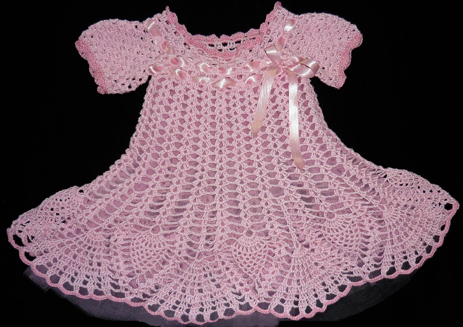 vestidos de niña tejidos a crochet   Tejidos Carmesí - Infantil ...