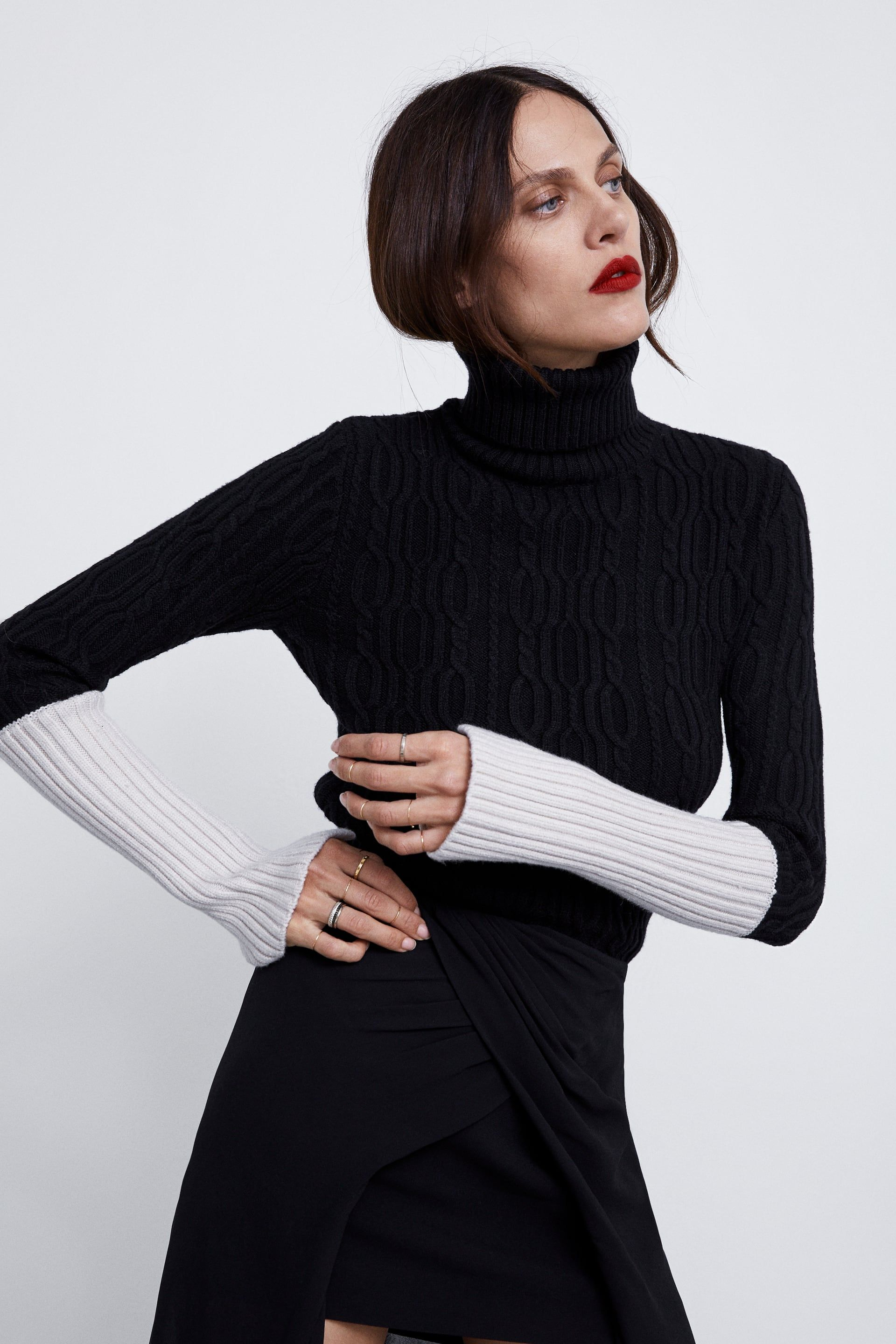 15bbda23a2 Image 2 of CABLE KNIT SWEATER from Zara
