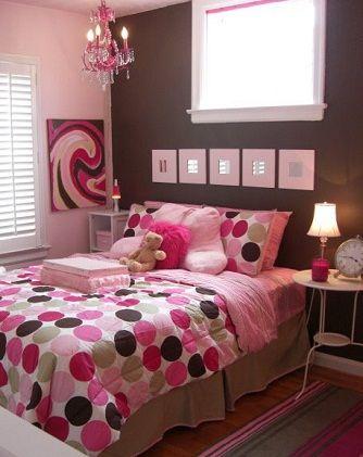 Dormitorio juvenil en rosa y chocolate dormitorios - Habitaciones juveniles nina ...