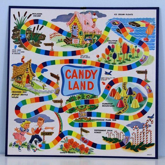 Vintage 1950 S Candy Land Board Game Etsy Candyland Games Candyland Candyland Board Game