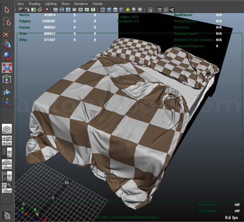 Create Realistic Bed In Maya Antonio Bosi 3d Render Maya Mental Ray Tutorials Maya Essential Tips Tutorials And 3d Models Maya Modeling Tutorial Maya