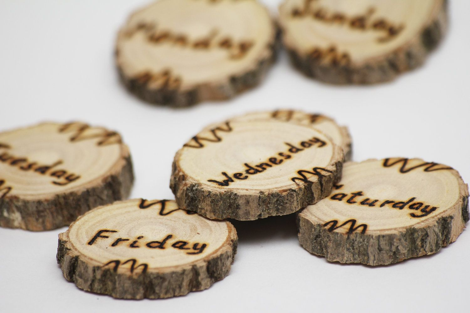 rustic gift 7pcs wood magnet wood gift kitchen magnet by EcoWood, $10.00