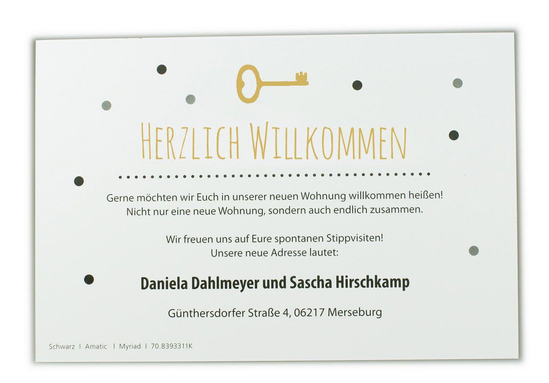 Blankokarte Weiß Glatt Im Beispiel In Schwarz Und Goldocker