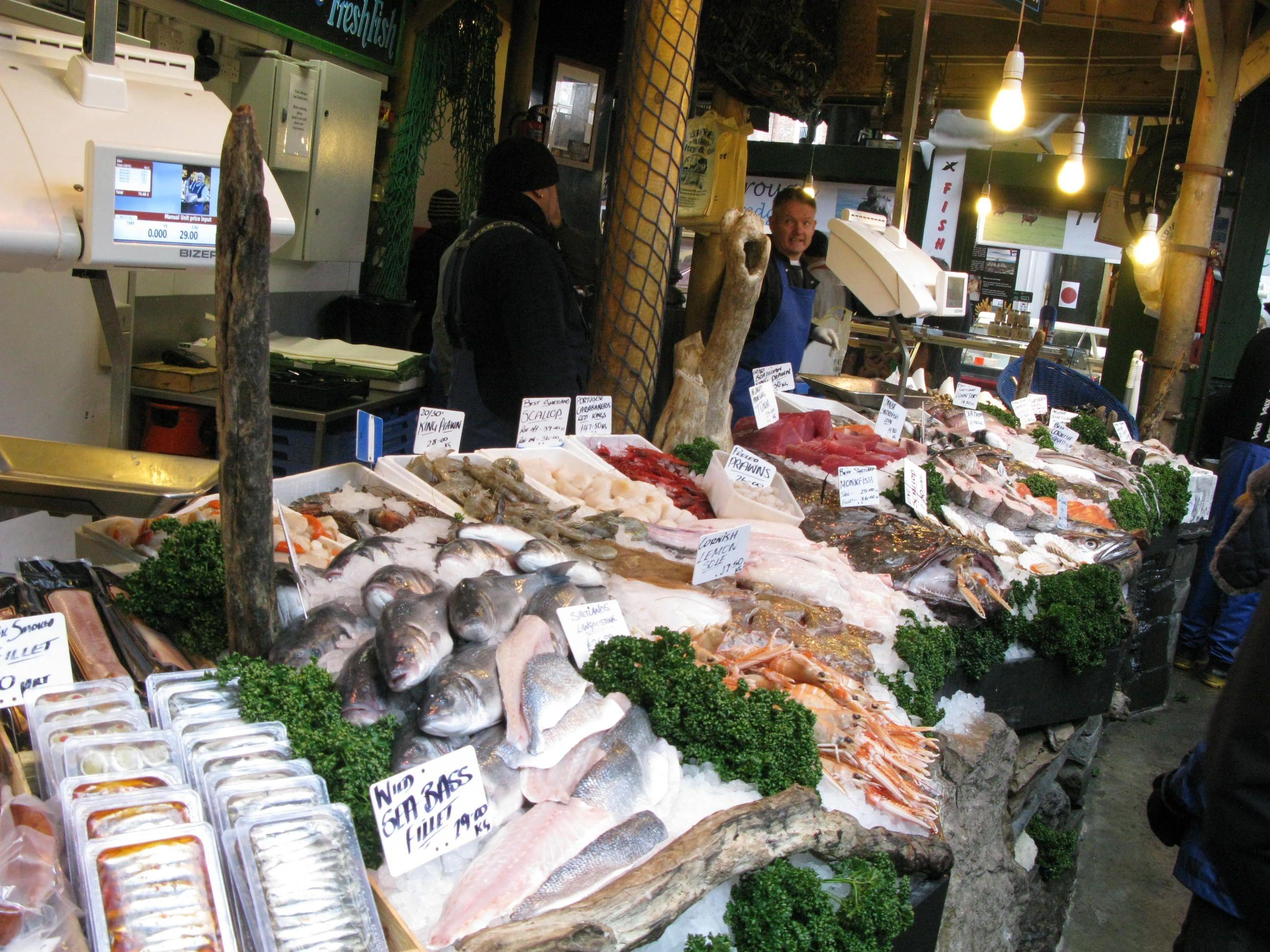 Fish Market Borough Market London England Borough Market Fresh Seafood Fish