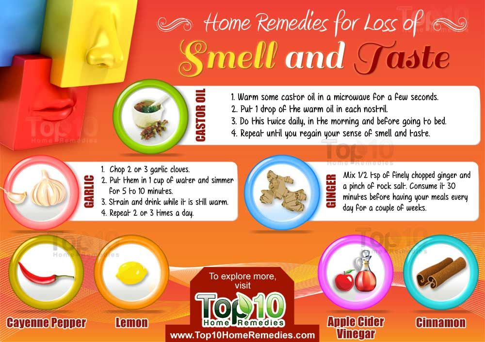 Home remedies for loss of smell and taste top 10 home
