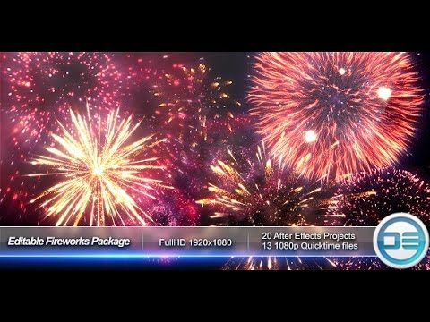 editable fireworks package (after effects template) | popular, Presentation templates