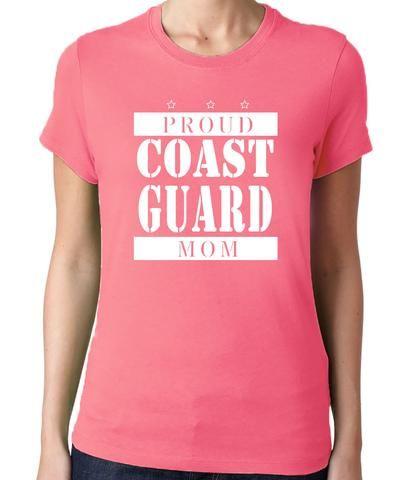 Proud Coast Guard Mom T-Shirt. Military mom. Military mothers. Gift for military mom. Gift for coast guard mom. Coast guard. Gift for mom. Mother's Day Gift.