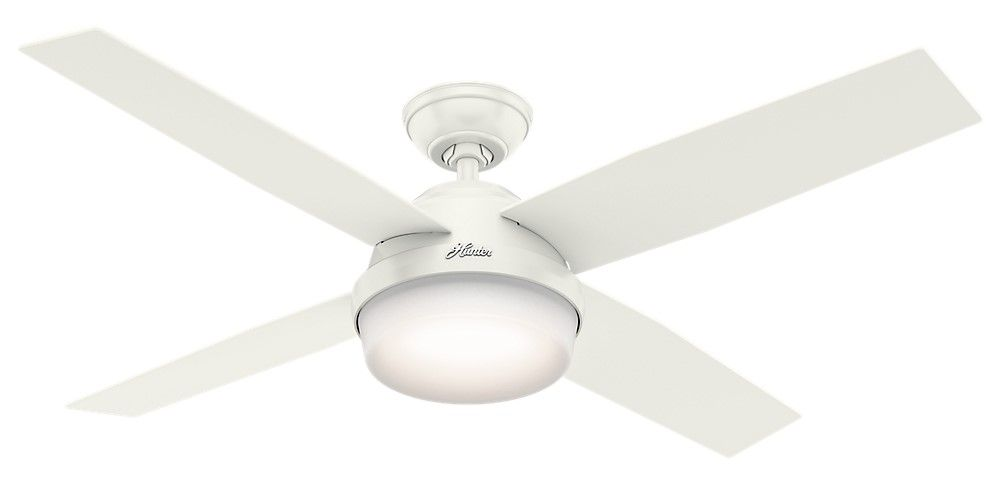 Hunter Dempsey 2 Light 52 Indoor Outdoor Ceiling Fan In Fresh White Ceiling Fan Ceiling Fan With Remote Fan
