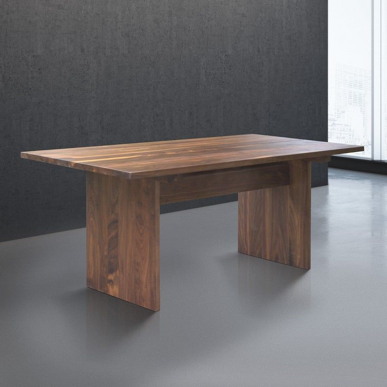 Solid Walnut Dining Table Square Solid Wood Dining Table Minimal