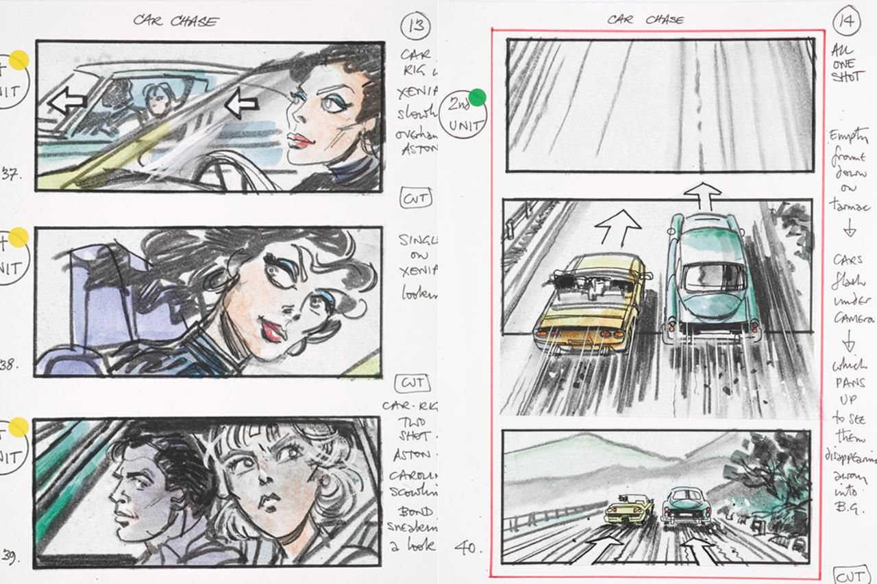 Drawn to danger: inside Bond\'s art archive | Storyboard, Concept art ...