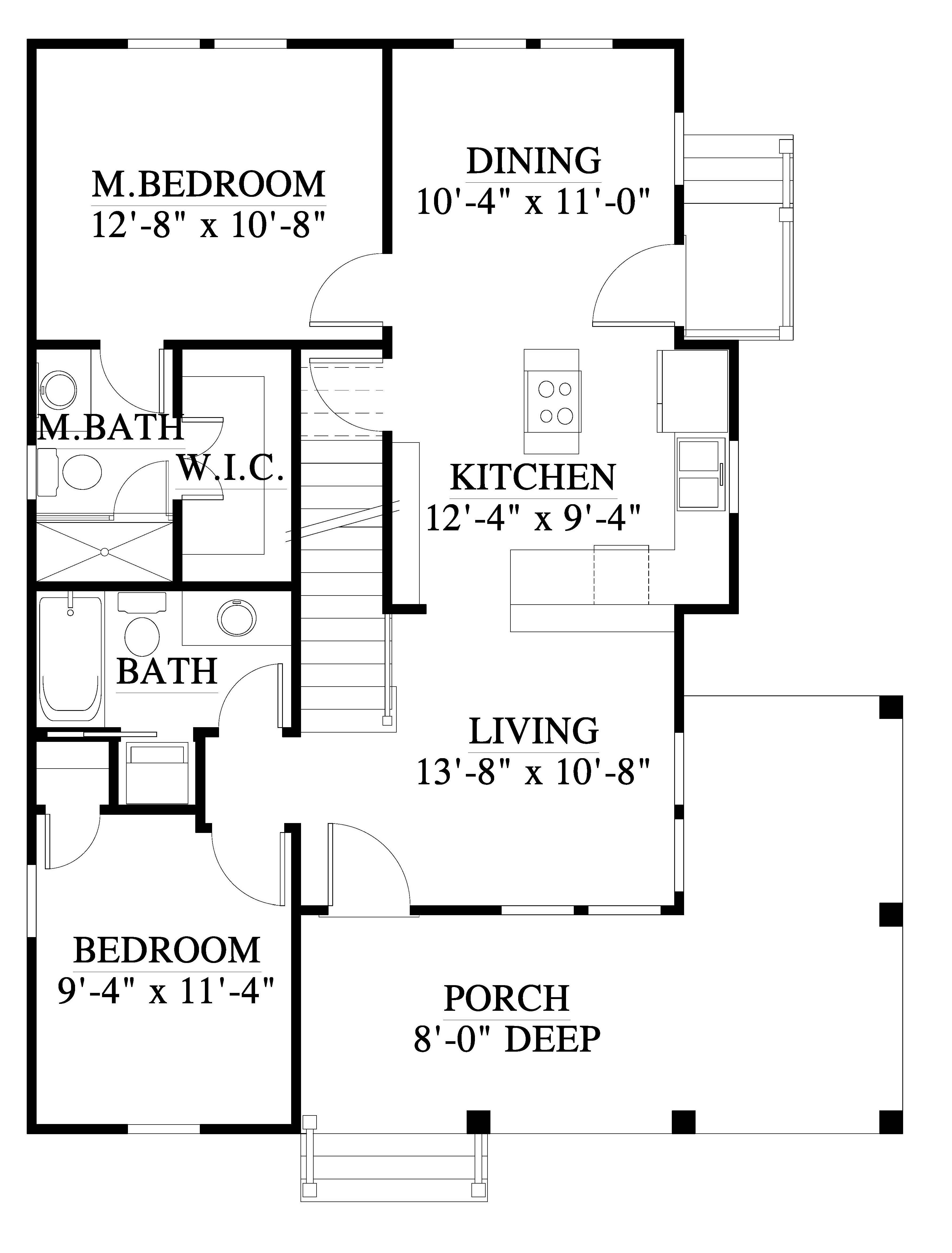 The Robin House Plan K20020 Design From Allison Ramsey Architects House Plans How To Plan Small House Floor Plans