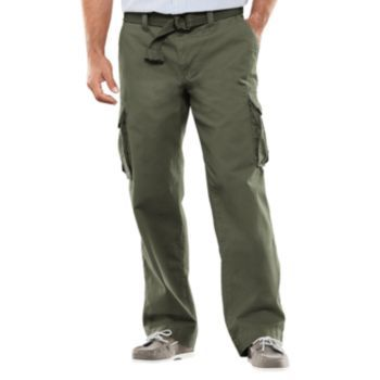 43927d31221bc Men's SONOMA Goods for Life™ Relaxed-Fit Slubbed Cargo Pants ...