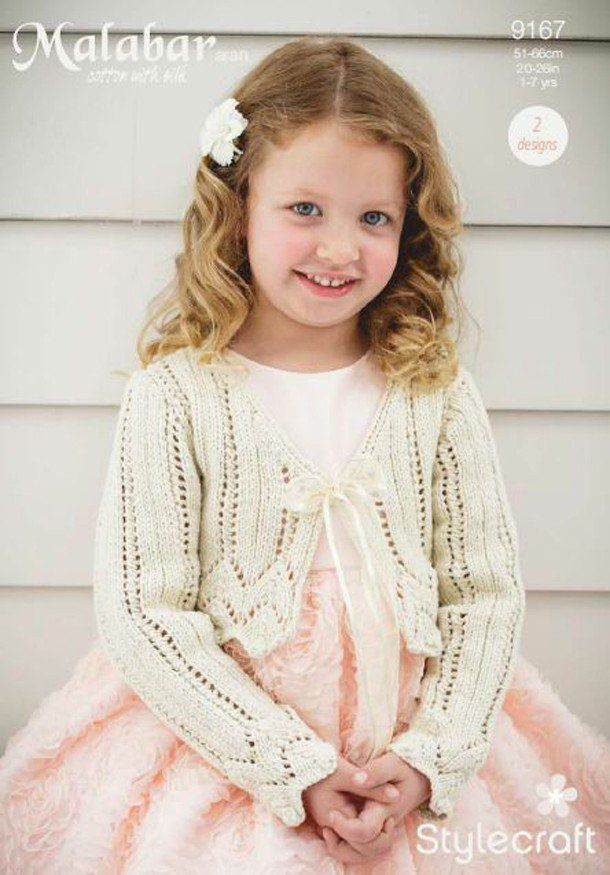 Girls Occasion Cardigans in Stylecraft Malabar (9167) | New Products ...