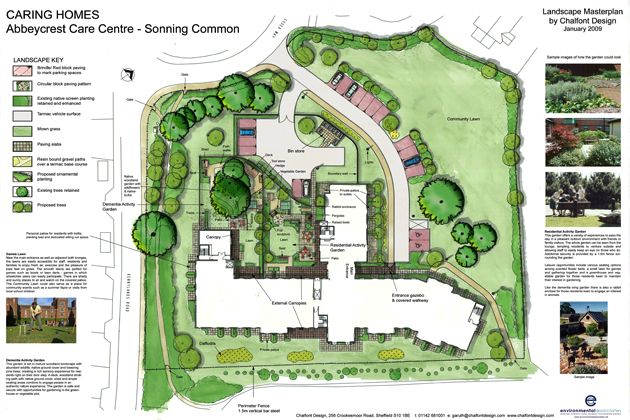 retirement home designs. Care and retirement homes design  EA External landscaping Dementia care gardens